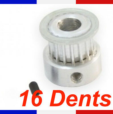 Poulie GT2 - 16 dents - largeur courroie 6mm - pour imprimante 3D Reprap pulley