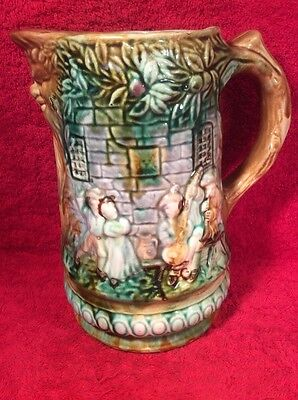 Antique Frie Onnaing French Majolica Pitcher c1890, fm976  GIFT QUALITY!!