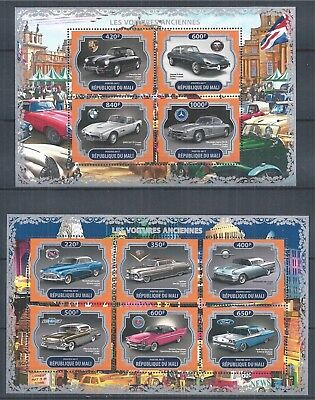 Republique Du Mali 2017 Mini Sheet Set Mnh Oldtimer Classic Car