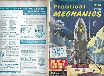 NEWNES PRACTICAL MECHANICS JAN 1962  46 pp  Good Scientific Interest and D.I.Y.