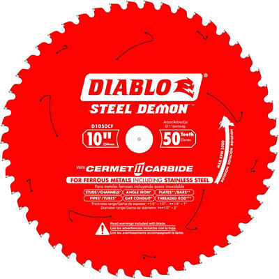 "Diablo D1050CF 10"" Steel Demon Cerment II Metal Cutting Blade New"
