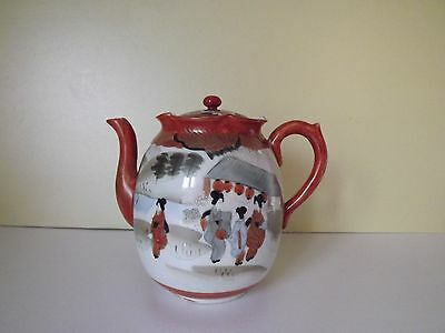 Vintage Japanese Hand Painted Teapot (69,1)