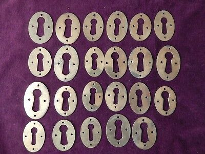 24X Old Reclaimed Door Brass Keyholes Key Escutcheons #3