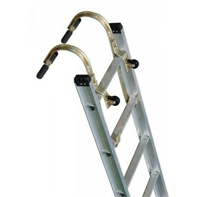 QTY (2) Roof Zone 65005 Roof Hook w/ Wheel- Roof Ridge Extension Ladder Hook