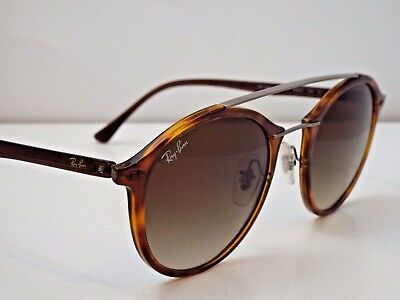 3a628bcc24 Authentic Ray-Ban RB 4266 6201 13 LightRay Tortoise Brown Gradnt Sunglasses   265