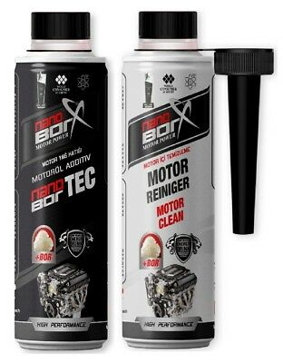 Nano Borx Nanoborx Motoröl Additive & Motor Reiniger je 600ml Motor Power  Bor