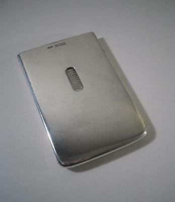 An Antique Silver Slimline Card Case w. Slide Release : London 1906