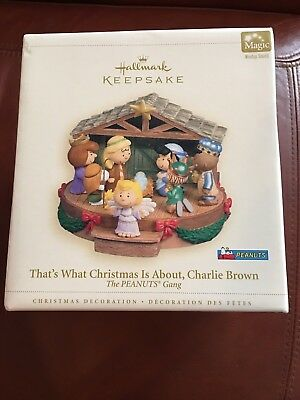 2006 Hallmark Keepsake THAT'S WHAT CHRISTMAS IS ABOUT CHARLIE BROWN Peanuts Gang