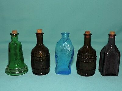 Vintage Small Glass Bottles Lot of 5