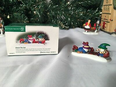 New Department 56 North Pole Series Check This Out #56.56711 Accessory