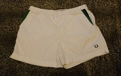 """Mens Vintage TENNIS shorts  80s XL 38"""" FRED PERRY hipster Wavey retro"""