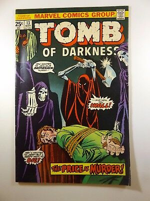 """The Tomb of Darkness #13 """"The Price Is Murder!"""" VF- Condition!!"""