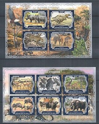Republique Du Mali 2017 Mini Sheet Set Mnh Fauna Africa Flora