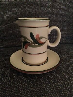 Jersey Pottery Sauce Jug And Saucer