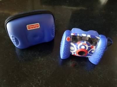 EUC Fisher Price Kid Tough Tuff Digital Camera Blue w/ matching protective case
