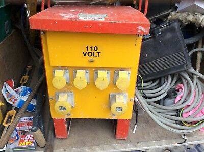 5kva site 110v transformer with approx 30m cable