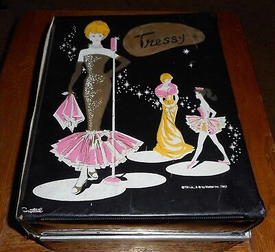 1964 Tressy Doll with Clothes Group and damaged case