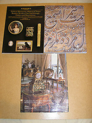 Auction catalogues x 3 Islamic and European art and furniture themes