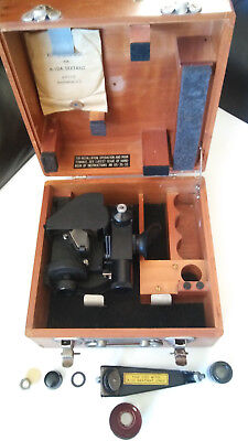 A10 Type US Army Airforce Sextant in Handsome Wooden Case  -