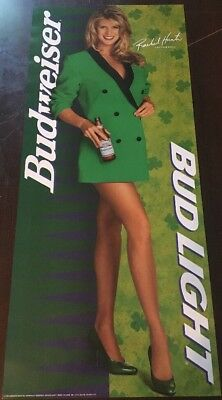 Rare Super Model Rachel Hunter 1994 Vintage Orig Bud Light Beer Pin Up Poster