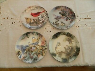 "Nature's PoetrySeries Collectable Plates (4) 8 1/4"" Lena Liu 5-3"