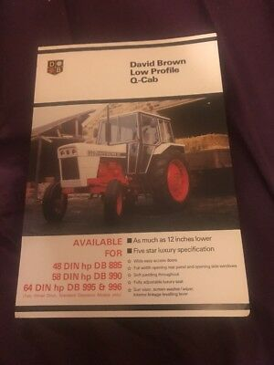 David Brown Low Profile Q- Cab For tractor brochure / Spec Sheet