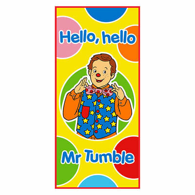 Official Something Special Mr Tumble Cotton Velour Towel Bath Beach Kids Home