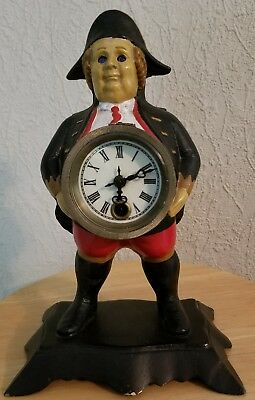 "Rare Novelty Antique ""Continential Toby "" Blinking Eye Clock"
