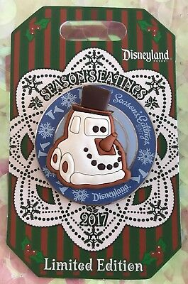 Disneyland Season's Eatings 2017 Cars Land Snowy the Car Gingerbread Cookie Pin