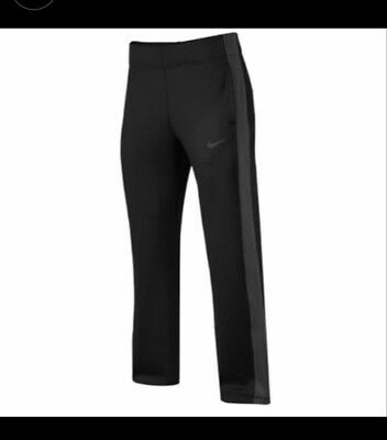 NWT NIKE women's dri fit black track athletic training sweat pants size s-t $55