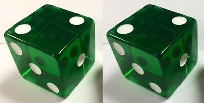 "2"" Jumbo Transparent Dice Pair 50mm (Set of 2)"