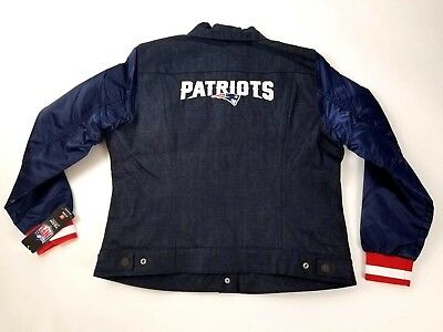 cheap for discount fc052 de1bd LEVIS NEW ENGLAND Patriots NFL Team Jean Jacket Womens XL X-Large NWT