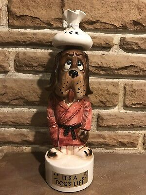 "Vintage It's A Dog's Life"" Musical Decanter  Made In Japan Empty"