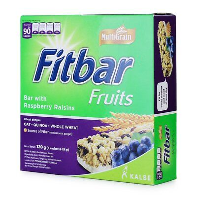 Fitbar Cereals Energy (5x24g) Healthy Food Snack Bar Vitamins Diet Fruits
