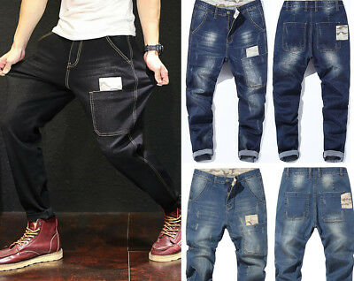 New Mens Boys Casual Camouflage Stretch Denim Pants Harem Jeans Trousers Fashion