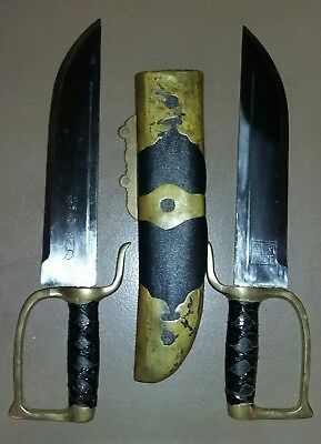Rare Antique Chinese Butterfly Swords, Hudiedao, Double Swords