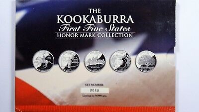 1999 The 2oz 999 Silver Kookaburra Honor Mark Collection First Five States