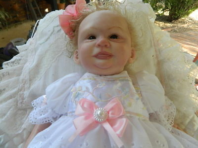 Reborn Baby 'joy' Only Ever Been On Display Gorgeous Little Girl