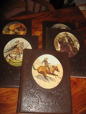 Time Life Books: The Old West Lot of 5 Leatherette Volumes Gunfighters, Gamblers