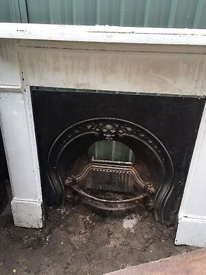 Victorian Cast Iron Fireplace & Mantle