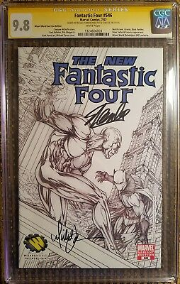 Fantastic Four #546 Signed Michael Turner & Stan Lee CGC 9.8 SS Black Panther