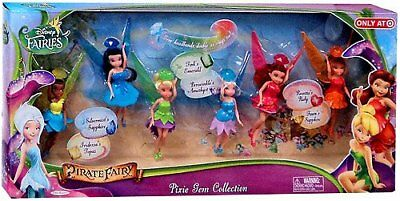 Disney Fairies Exclusive 4.5 Inch Doll 6-Pack The Pirate Fairy Pixie Gem Tink, &