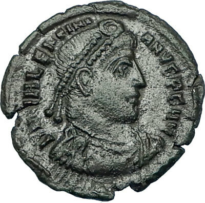 VALENTINIAN I 367AD Siscia Authentic Ancient Roman Coin VICTORY ANGEL i65804