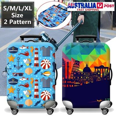 S/M/L/XL Size Elastic Travel Luggage Suitcase Cover Dustproof Protector Case Bag
