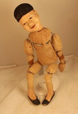 Vtg. Chinese Wood and Composition Doll