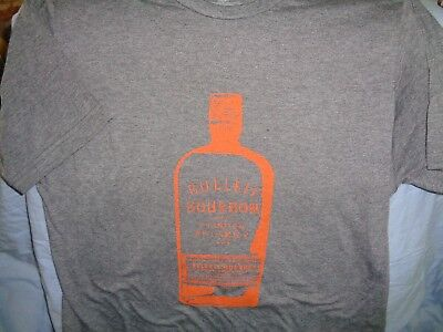 Bulleit Bourbon Frontier Whiskey T Shirt Bartender Top Medium - New!