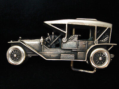 Pf09121 Vintage 1978 Cut-Out **antique Automobile** Solid Brass Baron Buckle