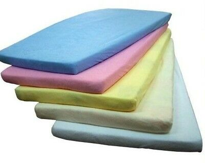 Baby Nursery 100% Terry Cotton Fitted Sheet Bassinet/Cot European Design