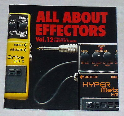 BOSS GUITAR EFFECTOR Catalog 1993 Vol.12 ! Mini Book Catalog !!