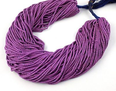 """20 Strands Synthetic Sugilite Heishi Shape 1.75X.5-2X2.25mm 12"""" Long Smooth Bead"""